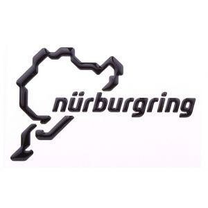 Nürburgring Aufkleber NR Logo 3D 12cm schwarz