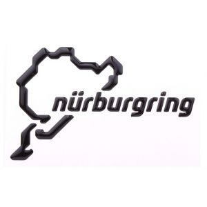 Nürburgring Sticker NRLogotipo 3D 12cm negro