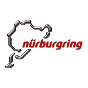 Nürburgring Aufkleber NR Logo 3D 12cm grau-rot