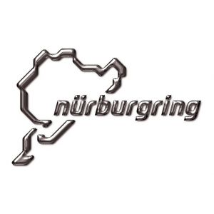 Nürburgring Sticker NR Logo 3D 12cm argent