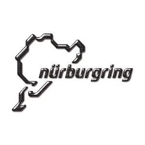 Nürburgring Sticker NR Logo 3D 12cm carbonio