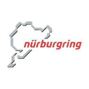 Nürburgring Sticker Nürburgring Logo 12cm gris-rouge