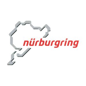 Nürburgring Sticker Nürburgring Logotipo 12cm gris-rojo