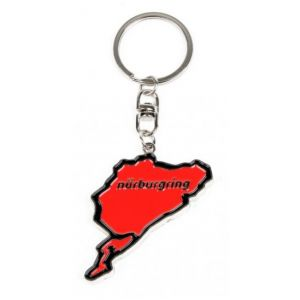 Nürburgring Porte-clés Silhouette rouge