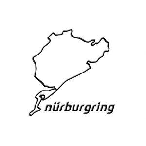 Nürburgring Sticker Nürburgring 3D 12cm negro