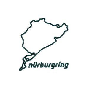 Nürburgring Sticker Nürburgring 3D 12cm carbono