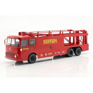 Fiat Bartoletti Racing transporter 306/2 Ferrari rouge foncé 1/18