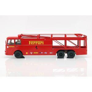 Fiat Bartoletti Racing transporter 306/2 Ferrari rojo oscuro 1/18