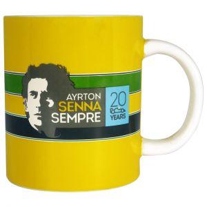 Ayrton Senna Mug Helmet Sempre