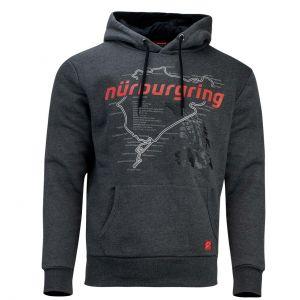 Nürburgring Felpa con cappuccio Nordschleife grigio