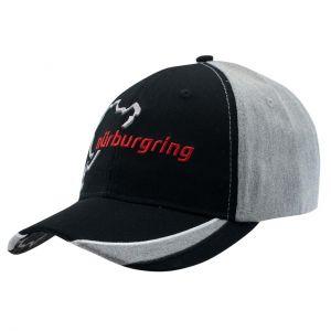 Nürburgring Gorra Nordschleife negro / gris