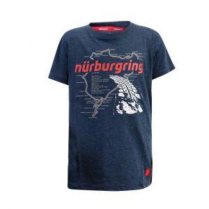 Nürburgring Kinder T-Shirt Nordschleife blau