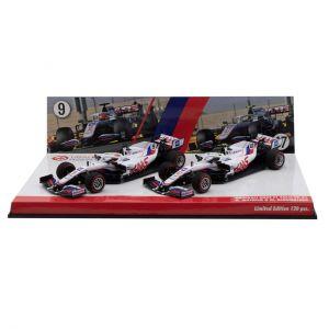 Uralkali Haas F1 Team 2021 Schumacher / Mazepin doppio set Edizione limitata 1/43