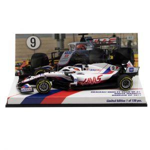Nikita Mazepin  Uralkali Haas F1 Team VF-21 Fórmula 1 GP de Bahrein 2021 Edición limitada 1/43