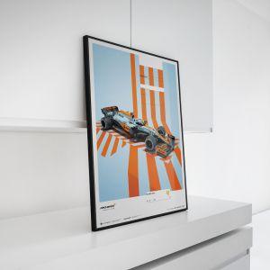 Cartel McLaren Gulf Formel 1 Edition 2 - Lando Norris 2021 - Limited Edition