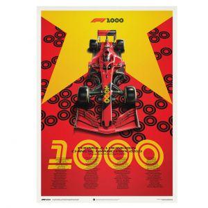 Poster Formel 1 - Großer Preis von China 2019 - Ferrari Edition
