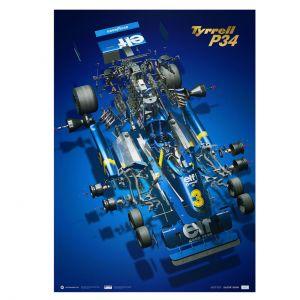 Cartel Tyrrell P34 - Jody Scheckter - F1 1976 - Collector`s Edition