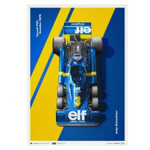 Poster Tyrrell P34 - Jody Scheckter - F1 1976 - Limited Edition