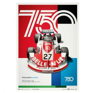 Poster Williams Racing - March Ford 761 - Formel 1 1977 - Limited Edition