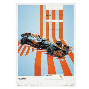 Affiche McLaren Gulf Formel 1 Edition 2 - Lando Norris 2021 - Limited Edition