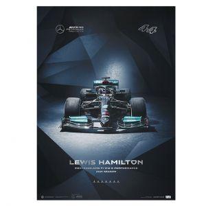 Cartel Mercedes-AMG Petronas F1 Team -  Lewis Hamilton - 2021