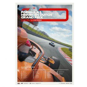 Cartel Fórmula 1 - Gran Premio de Holanda 2021 - Edición limitada