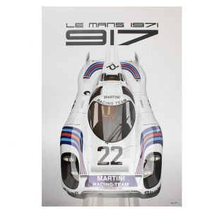 Cartel 24h Carrera de Le Mans - Porsche 917 - Martini