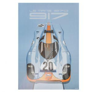 Poster 24h-Rennen Le Mans - Porsche 917 - Gulf