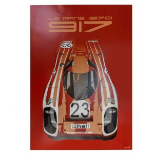 Affiche 24h de course au Mans - Porsche 917 - Salzburg
