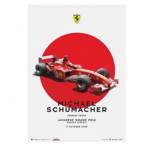 Poster Michael Schumacher - Ferrari F2002 - GP del Giappone 2002