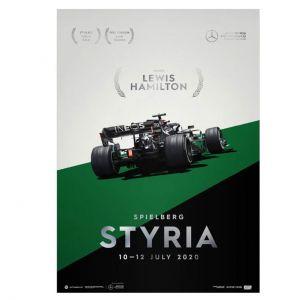 Poster Mercedes-AMG Petronas F1 Team - Styria GP 2020 - Lewis Hamilton