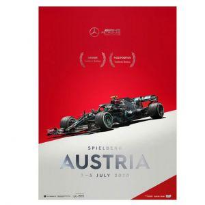 Poster Mercedes-AMG Petronas F1 Team - Austria GP 2020 - Valtteri Bottas