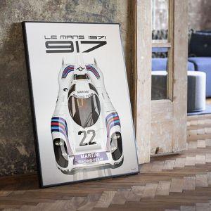Affiche 24h de course au Mans - Porsche 917 - Martini