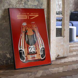 Cartel 24h Carrera de Le Mans - Porsche 917 - Salzburg