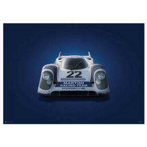 Poster Porsche 917 - Martini - 24h Le Mans - 1971 - Colors of Speed