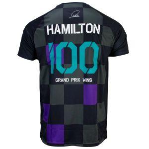 Lewis Hamilton T-Shirt Special Edition 100 Grand Prix Victoires