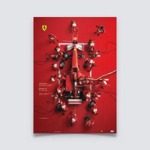 Michael Schumacher - Ferrari F1-2000 - Pit Stop - Affiche édition U&L