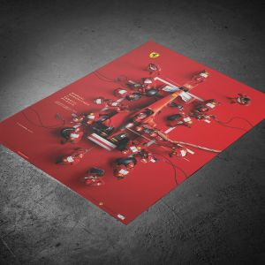 "Póster U&L Edition de Michael Schumacher - Ferrari F1-2000 - ""Pit Stop"""