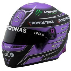 Lewis Hamilton casque miniature 2021 1/2