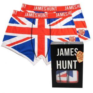 James Hunt Boxers Union Jack Double Pack
