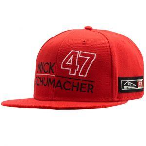 Mick Schumacher Cappello 47 rosso