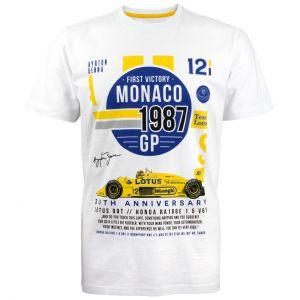 Camiseta Mónaco 1987 de blanca