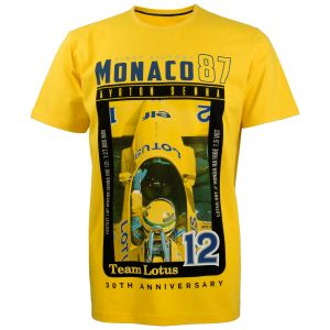 Ayrton Senna T-Shirt Monaco 1st Victory 1987 gelb
