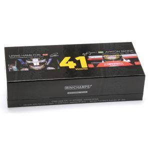 Modelcar Set Ayrton Senna - Lewis Hamilton 41 Victories 1/43