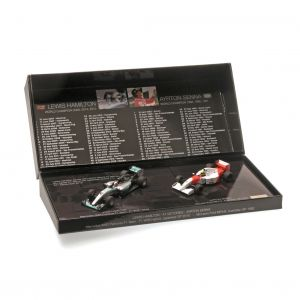 Ayrton Senna - Lewis Hamilton Set Miniaturas 41 Vitórias Modelos 1/43