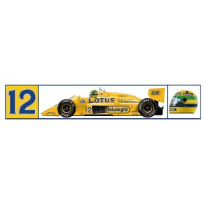 Ayrton Senna Lotus 99t Sticker