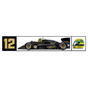 Ayrton Senna Lotus Sticker