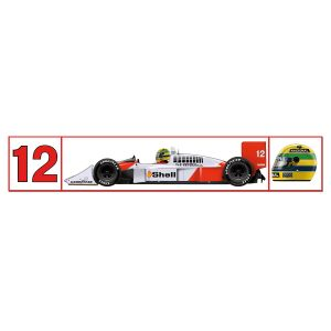 Ayrton Senna McLaren Mp4/4 Sticker