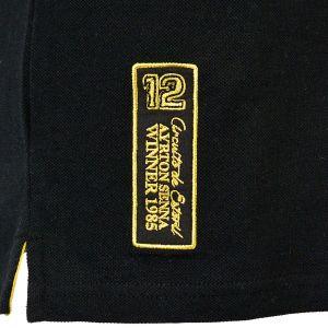 Ayrton Senna Polo-Shirt 1st Victory 1985 detail 3