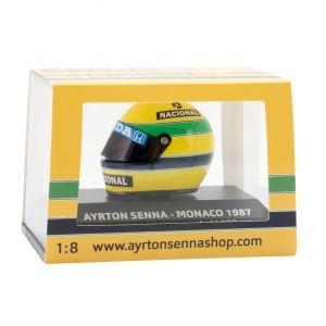 Ayrton Senna Helmet Monaco 1987 box